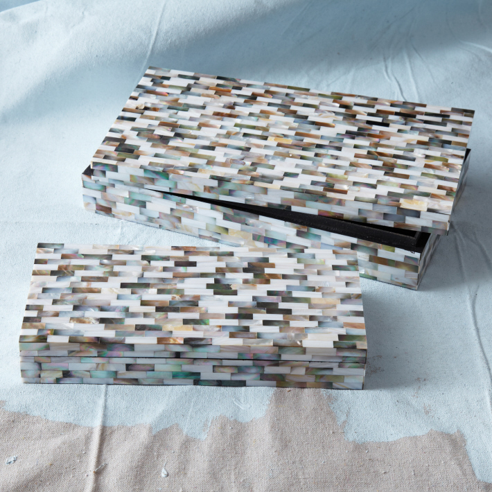 Mother of Pearl Mosaic Boxes