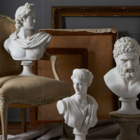 Neoclassical Resin Busts