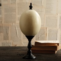Ostrich Egg on Stand