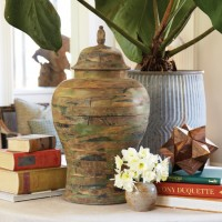 Pine Wood Ginger Jar