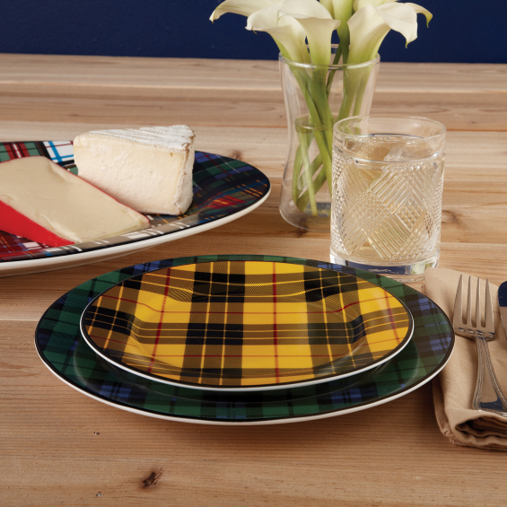 Plaid Dinner Plates, detail