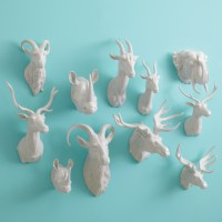 Porcelain Animal Wall Trophy Assortment