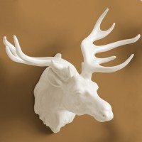 Porcelain Elk Wall Trophy