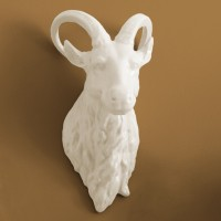 Porcelain Ram Head Wall Trophy