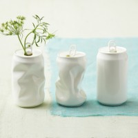 Porcelain Soda Can Vases