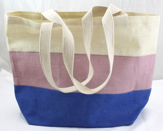 Royal Blue Jute Tote