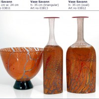 Speckled Amber Glass Vases