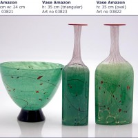 Speckled Glass Vases