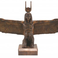 Winged Egyptian God Statue