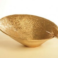 24 Karat Gold Butterfly Bowl