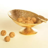 24 Karat Gold Footed Butterfly Bowl
