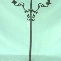 3 Light Candle Cast Iron Stand