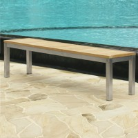 5' Teak & Stainless Steel Bench