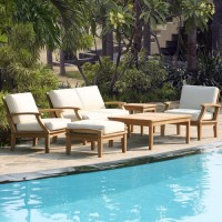 6 Piece Outdoor Teak Seating