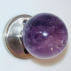 Amethyst Door Knob Set