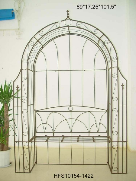 Arched Trellis with Bench