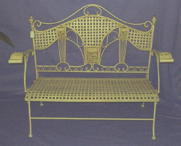 Art Deco Patio Bench