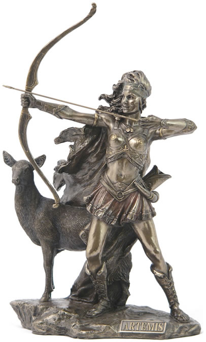 Artemis, Greek Goddess of the Hunt Sculpture