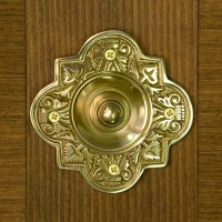 Ballard Doorbell, polished brass