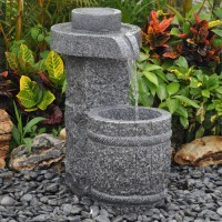 Barrel Granite Fountain