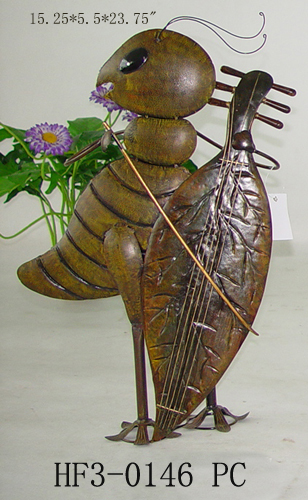 Bass Player Cricket Garden Decor