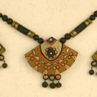 Big Fan Terracotta Necklace Set