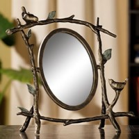 Bird & Branch Tabletop Mirror