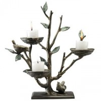 Bird & Branch Triple Candleholder