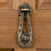 Blithedale Door Knocker, antique brass