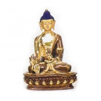 Blue Headed Buddha Statue