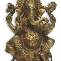 Brass Ganesh Sitting on Rat