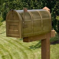 Brass Post Mailbox