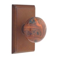 Brown Swirl Door Knob & Plate Set