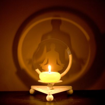 Buddha's Shadow Projection Candle Holder