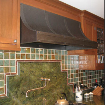 Burnished Metal Stovetop Hood