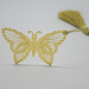 Butterfly Cutout Brass Bookmark