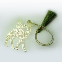 Camel Cutout Brass Bookmark