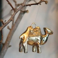 Camel Ornament, gold or silver