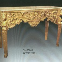 Carved Gilt Caryatid Table