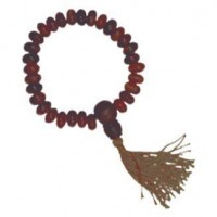 Carved Wood Wrist Mala
