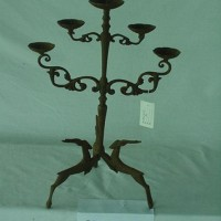 Cast Iron Candle Holder