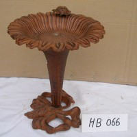 Cast Iron Sunflower Bird Bath