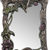 Cherubs and Lotus Mirror