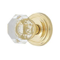 Clear Crystal Door Knob Set