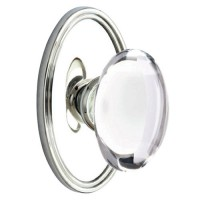 Clear Oval Crystal Door Knob Set
