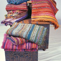 Colorful Woven Cloth Mats