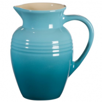 Cool Blue Stoneware Pitcher