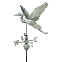 Copper Heron Weathervane
