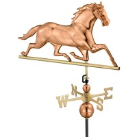 Copper Horse Weathervane, polished copper