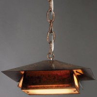 Copper Ski Lodge Pendant